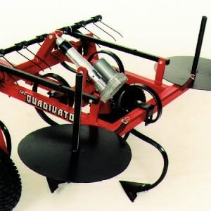 Quadivator Cultivator ATV Attachment - Barb Wire Dispenser