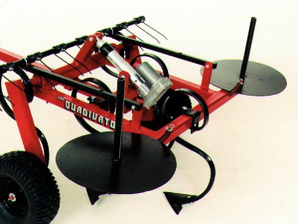 Quadivator Cultivator ATV Attachment - Barb Wire Dispenser