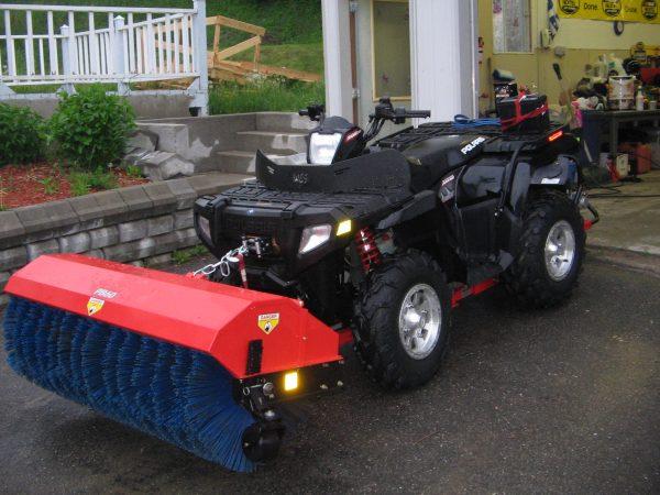 Quadivator ATV Power Broom
